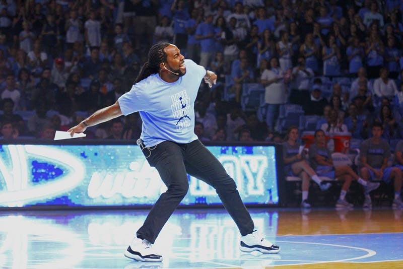 Jesse Holley hyped up the crowd as he hosted Late Night With Roy on Friday night.