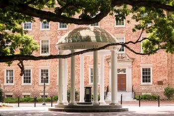 The Old Well is a fixture of McCorkle Place.