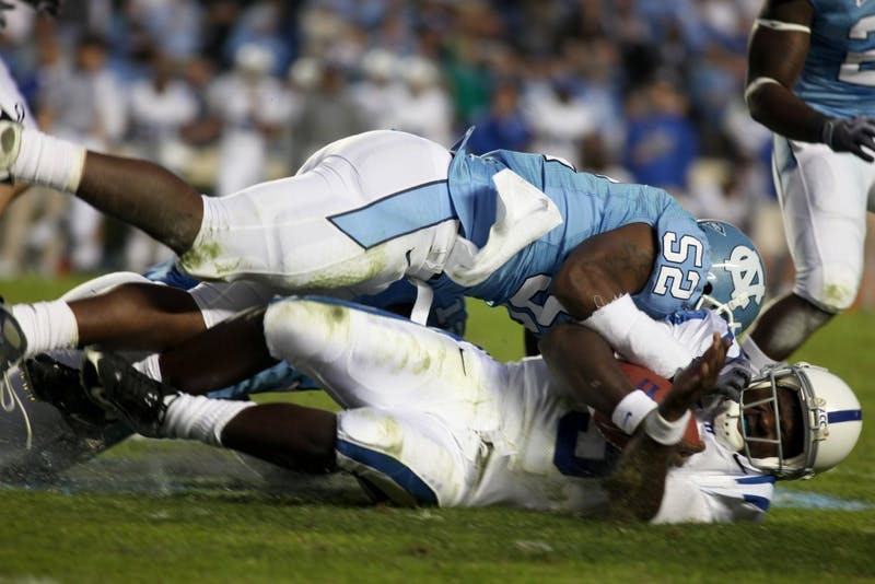 UNC rising senior linebacker Quan Sturdivant was cited with possesssion of marijuana in Albemarle after police found less than half an ounce in his possession. Sturdivant has led the Tar Heels the last two seasons in tackles, with 79 last year and a nation-high 87 during his sophomore year.
