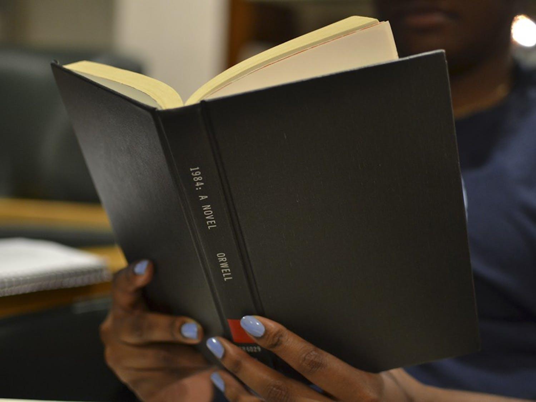 "George Orwell's novel ""1984""is back on the bestseller list."