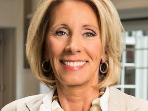 Betsy DeVos, the U.S. Secretary of Education under President Donald Trump, is an advocate for school choice policies. Photo courtesy of Betsy DeVos. Photo courtesy of Brian Kelly.