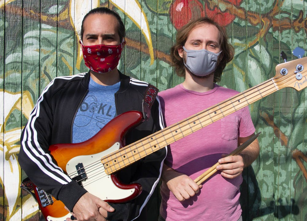 """Will Vizuete, 44, and Connor LaMontagne, 25, are the bassist and drummer for The Unsustainables, a band brought together by their mutual love for the environment and the traditional sounds of the Jaimaican 'Ska' genre. Vizuete is an Associate professor in the Environmental Science and Engineering department at the Gillings School of Public Health, while LaMontagne works in the same department as a PhD student. The band is composed of environmental scientists, engineers and even one EPA employee. According to LaMontagne, Ska is the predecessor of reggae. """"It's a cool mix,"""" LaMontagne said. """"We'll be playing just a regular reggae tune and then Trent will call out dub style and we'll [make] what he describes as a 'subtractive art'. It's not about making a bunch of noise, it's more about what you sounds you remove and sort of tastefully messing with the arrangement."""" Vizuete agrees that the band's mutual love for this era of music makes the group so amazing. """"What's really hip about it is that we're all writing new songs,"""" Vizuete said. """"It's something new and contemporary, because [we're] writing about stuff in [our] own life, but it's within this kind of era of sound that we love. And that's the fun part, trying to recreate that sound."""" The Unsustainables create this sound through the use of drums, bass, guitar, trumpet, trombone, saxophone and conga. They are in the process of trying out a new piano player, according to Vizuete, which would bring the total number of members from seven to eight people. """"Just being able to play has really been keeping our sanity,"""" Vizuete said."""