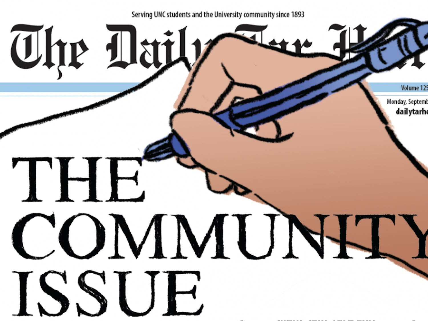 Our front page of the Sept. 4 print edition of The Daily Tar Heel, in which we published all of the letters we received regarding Silent Sam.