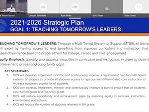The Orange County Schools Board of Education met virtually on Sept. 27.