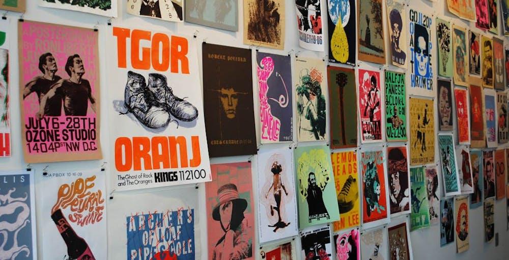 The poster/screenprinting art of Ron Liberti at Ackland Art Museum Store