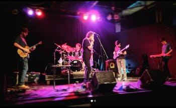 The Upward Dogs performing at the Cave in Chapel Hill. Photo courtesy of Scott Jones.