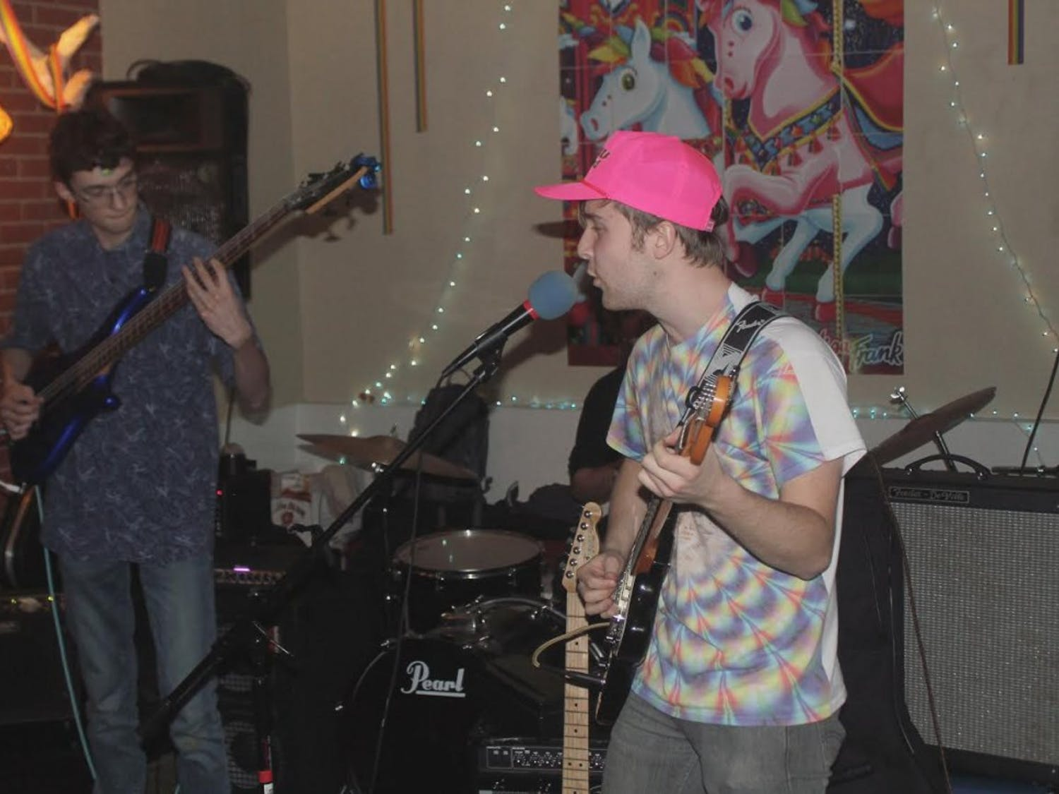 Nate Wagner performs as part of Lord Bendtner at St. Anthony's Lisa Frank party. Photo courtesy of Nate Wagner.