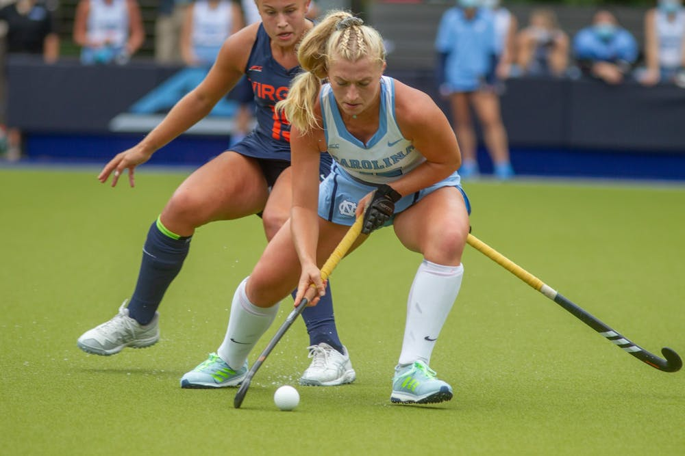 UNC field hockey secures 2-1 win over Virginia in unusual back-to-back match