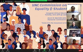 The Undergraduate Senate's Commission on Campus Equality met virtually on Tuesday, June 30, 2020 to discuss how to address race inequality and minority representation at UNC.