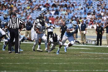 Junior running back Antonio Williams carries the ball during UNC's 38-35 win over Pittsburgh at Kenan Memorial Stadium on Sept. 22.