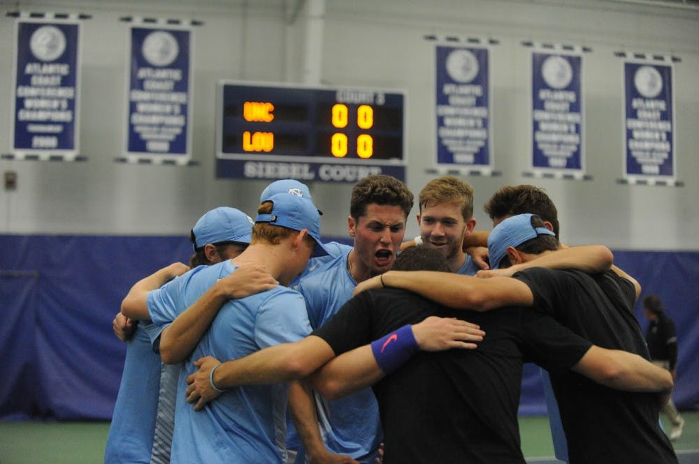 No. 3 seed UNC men's tennis defeats Louisville, 4-0, to set up rematch with Virginia