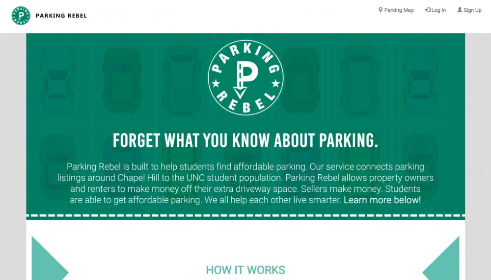 <p>Three current and former UNC students created Parking Rebel, an alternative service for buyers and sellers of parking spaces.&nbsp;</p>