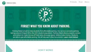 Three current and former UNC students created Parking Rebel, an alternative service for buyers and sellers of parking spaces.