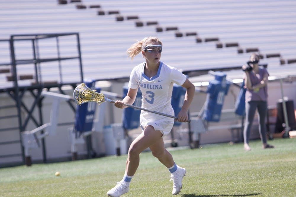 Fueled by memories past, Ortega leads No. 2 UNC women's lacrosse past No. 4 JMU, 18-7