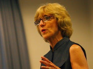 Susan King is one of four contenders in the running to replace Jean Folkerts as dean of the School of Journalism.