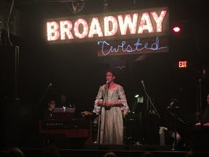 """Schuyler mastain performs """"Burn"""" from Hamilton at Local 506 on Monday to help raise awareness for HIV/AIDS with Broadway Twisted."""