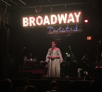 "Schuyler mastain performs ""Burn"" from Hamilton at Local 506 on Monday to help raise awareness for HIV/AIDS with Broadway Twisted."