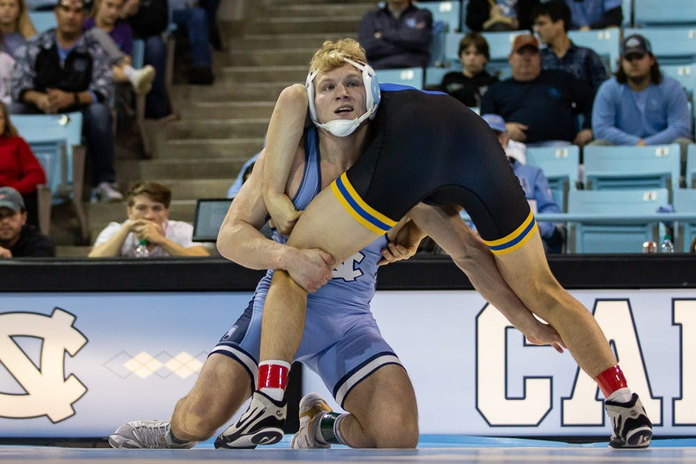 'Let's show them who we are': UNC wrestling earns top-10 victory over Pittsburgh