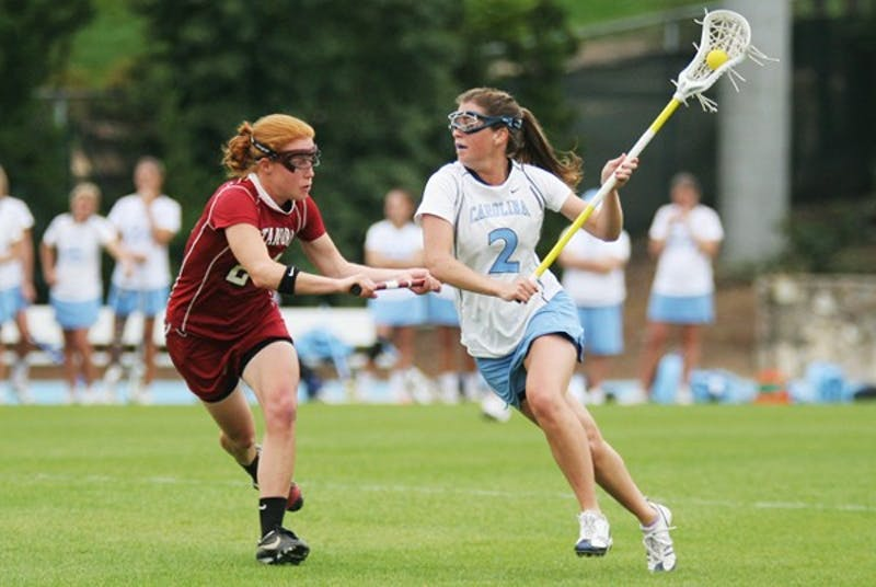 Megan Bosica is one of five seniors on the UNC lacrosse team who went to the NCAA Championship game last season. DTH File