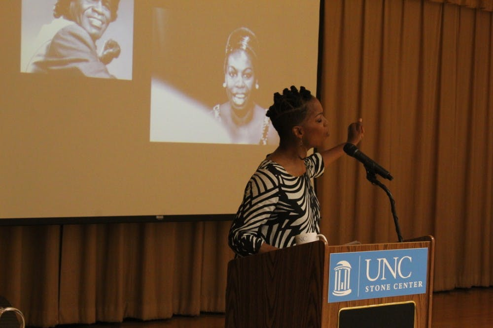 Nnenna Freelon encourages students to appreciate life at Sonja Haynes Stone Memorial Lecture