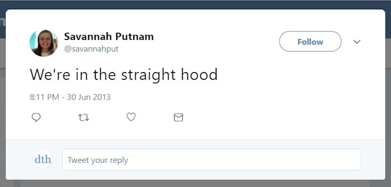 Savannah Putnam Tweets