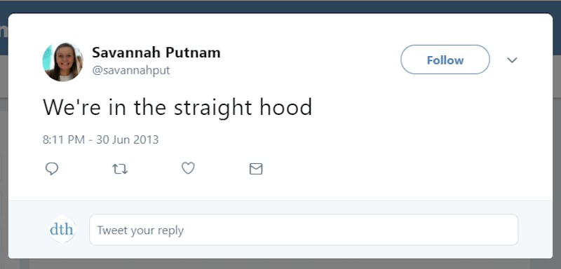 Savannah Putnam Tweets