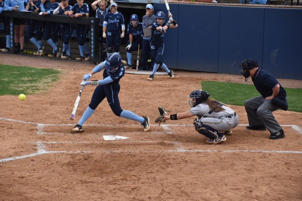 UNC softball continues losing streak in 10th inning nail-biter against UNCG
