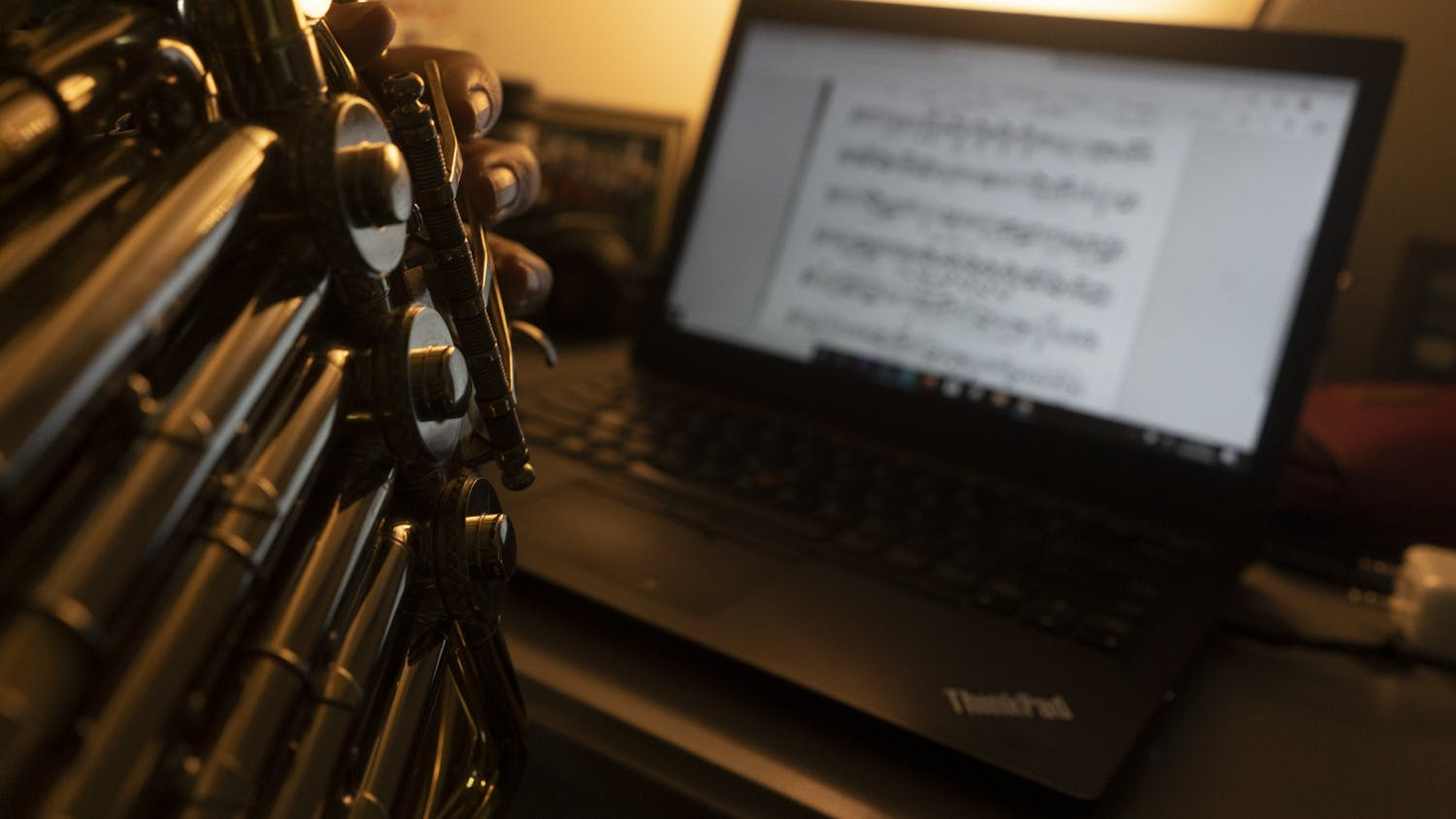 DTH Photo Illustration. Musicians at UNC have moved to virtual learning and virtual ensembles amid the pandemic.