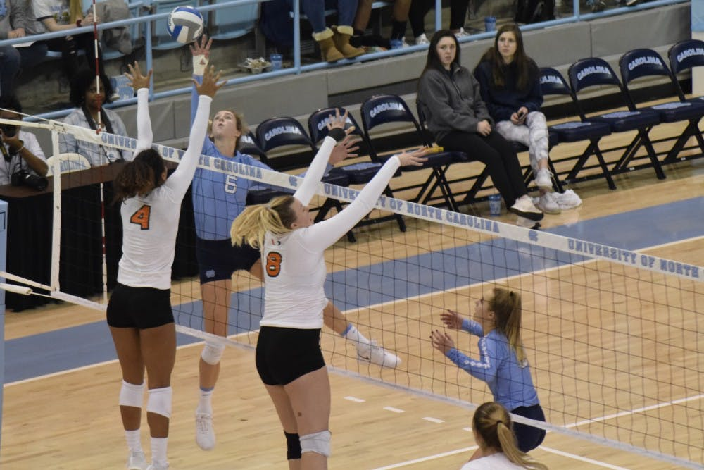 UNC volleyball swept by N.C. State in rematch of early ACC victory