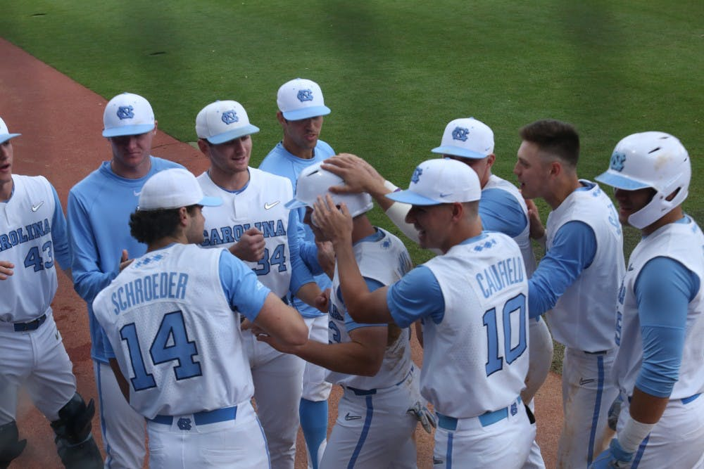 35022f297 UNC baseball wins again in extra innings, advances to ACC semifinals ...