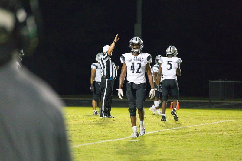 The North Carolina High School Athletic Association recently released a new schedule preventing high schools such as East Chapel Hill High School football players (shown above) from practicing or playing until February. Photo courtesy of Brian Nunn.