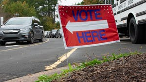 Voters cast their ballots during the midterm election at Frank Porter Graham School on Tuesday, Nov. 6, 2018.