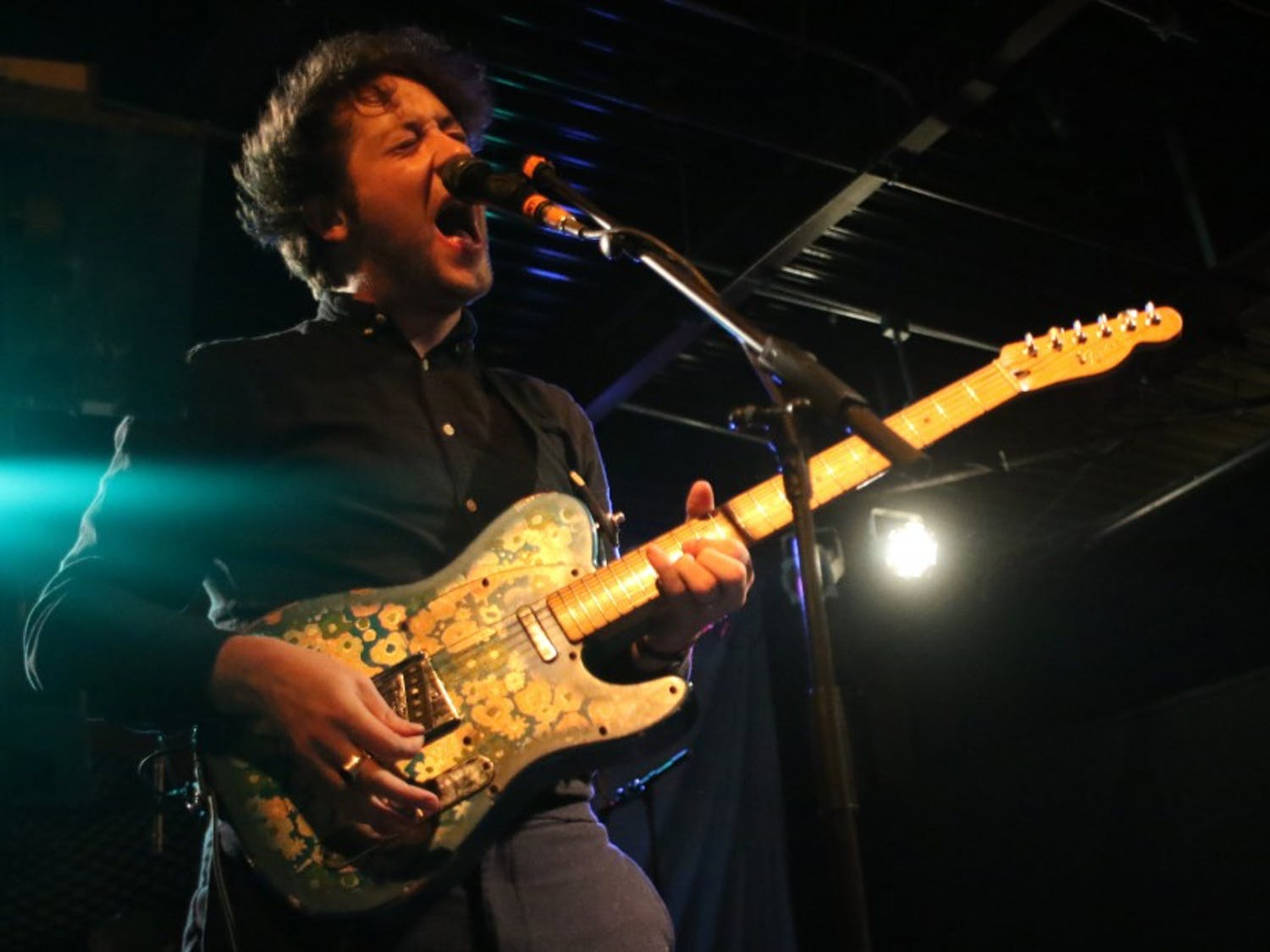 Matthew Murphy, lead singer of The Wombats, performed at Cat's Cradle on Monday night.