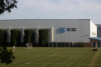 Students play recreational games in front of the Eddie Smith Field House on Sept. 9th.