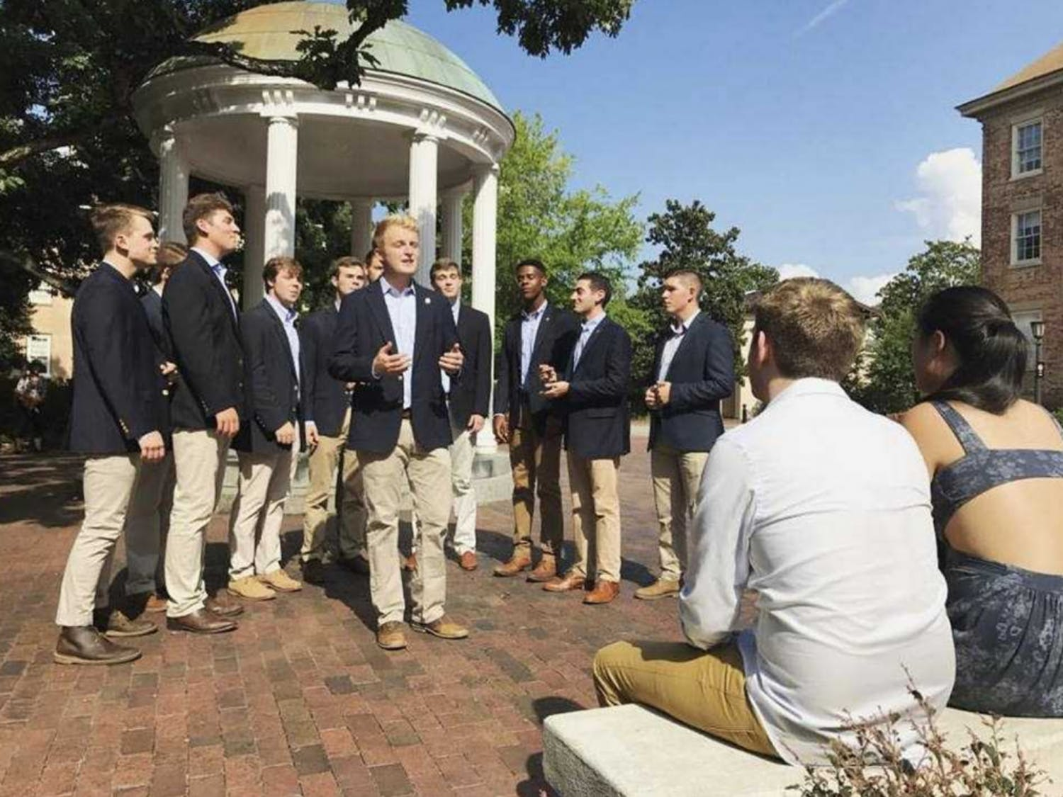 Clef Hangers are an all-male a cappella group. Photo courtesy of Patrick Dow.