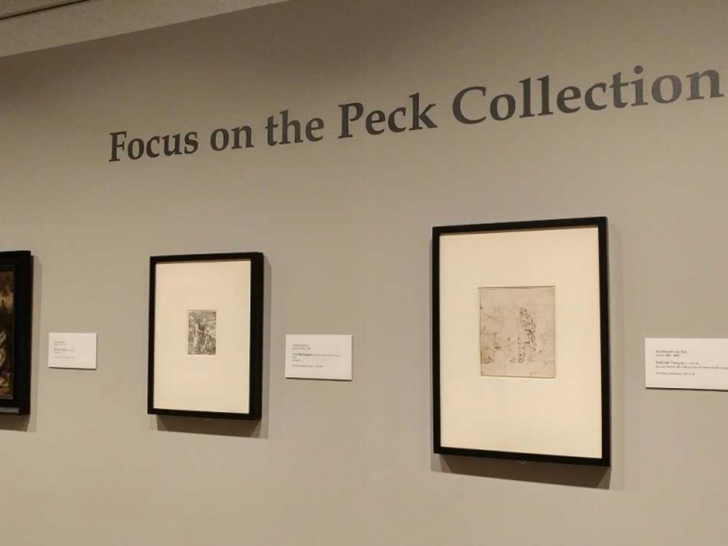 Focus on the Peck Collection will be on view at the Ackland Art Museum until Oct. 8. Photo courtesy of Emily Bowles.
