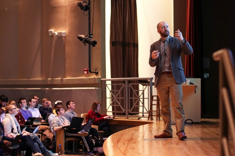 UNC computer science program graduate Kris Jordan uses assignments to teach his COMP 110 class.