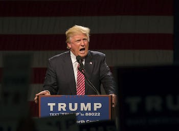 Republican presidential candidate Donald Trump spoke in the Greensboro Coliseum on Tuesday, June 14.