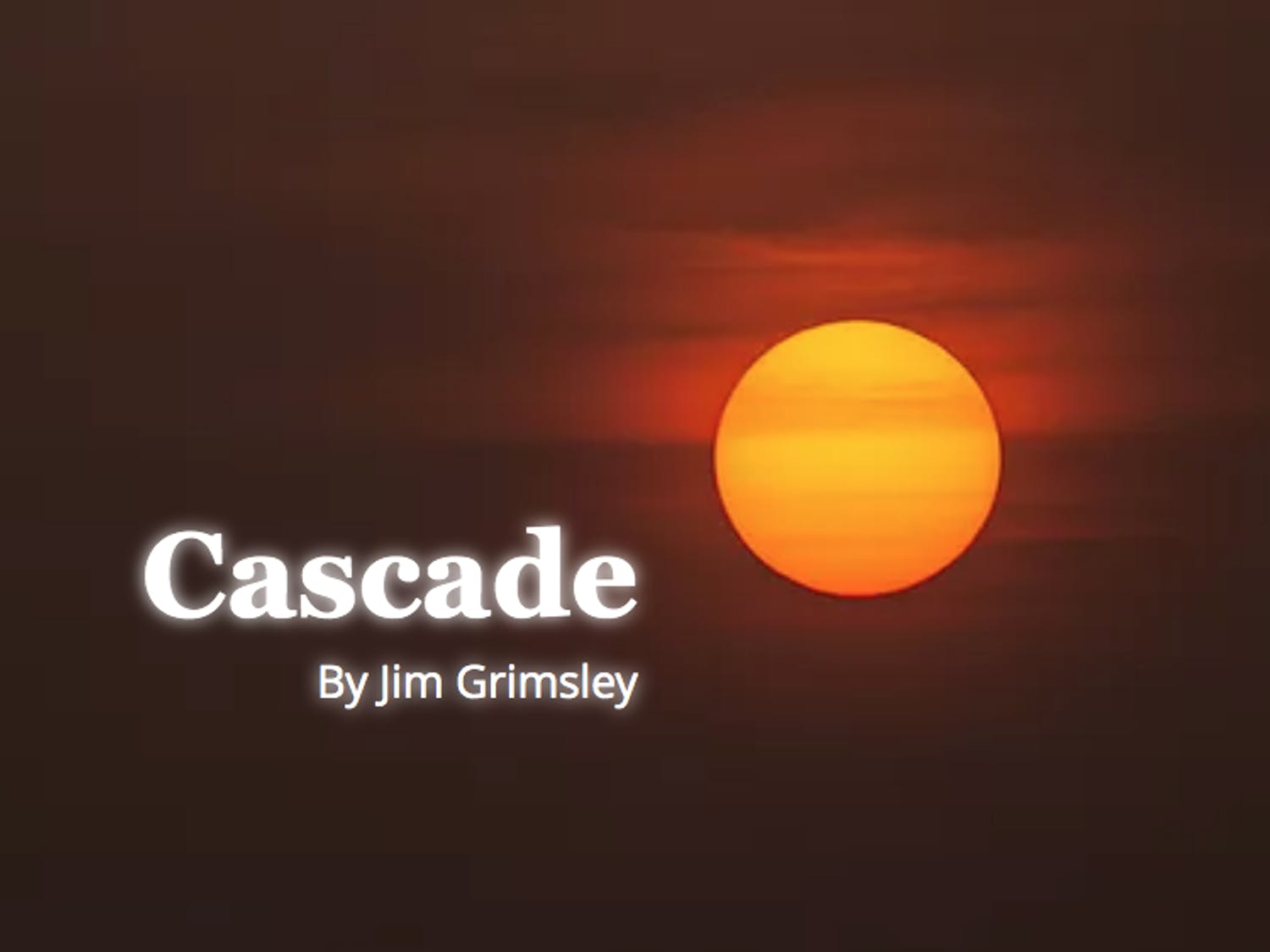 """The UNC Process Series will virtually present a reading of """"Cascade,"""" a play about the climate crisis written by UNC alumnus Jim Grimsley, on April 16 and 17. Photo courtesy of Joseph Megel."""