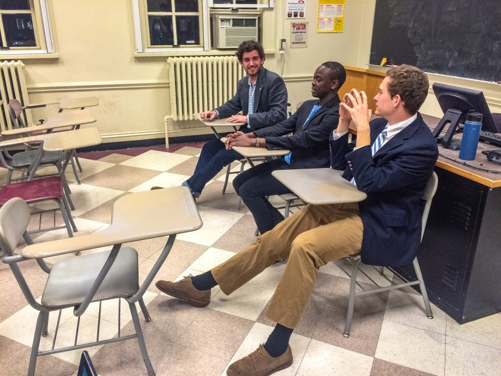<p>The Out-of-State Student Association hosted a debate on Monday for the Student Body President candidates.</p>