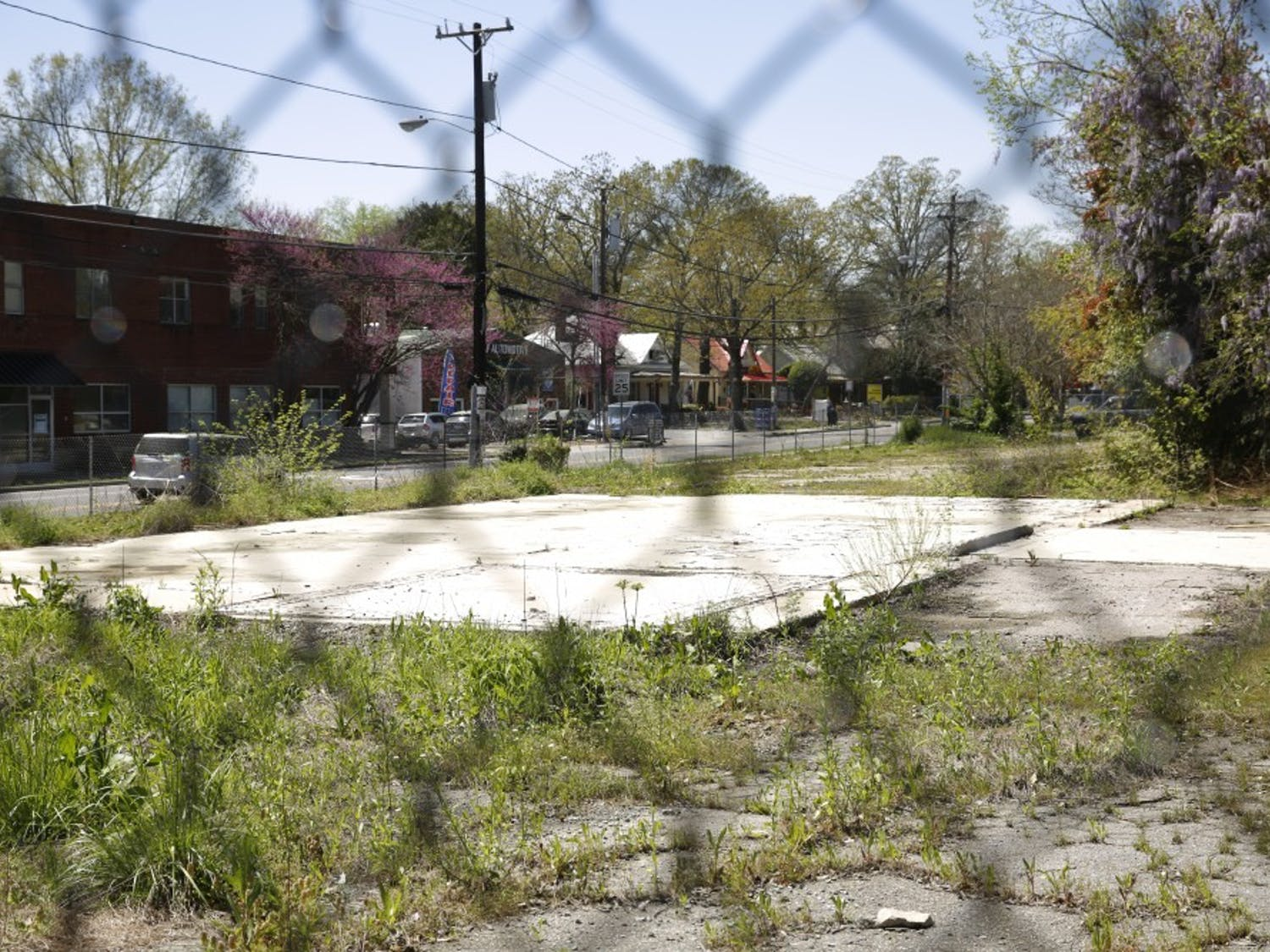 This empty lot in Carrboro, located on North Greensboro Street across from Weaver Street Market, was recently sold to a real estate developer.