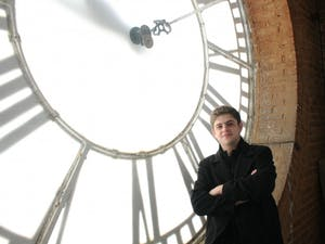 Michael Crosa, a senior at UNC, is the belltower ringer for the 2011-2012 school year.
