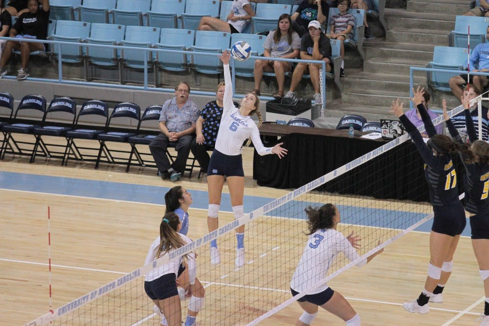 Volleyball picks up first win of 2018 with 3-0 victory over UNC-Greensboro