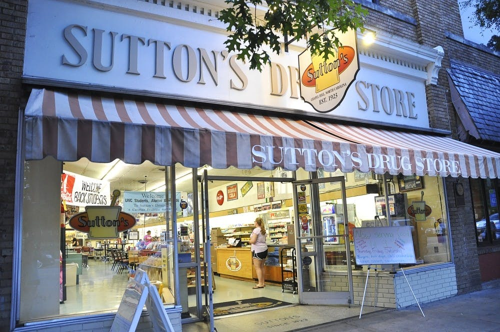 Sutton's Drug Store displays its history with its famous photos