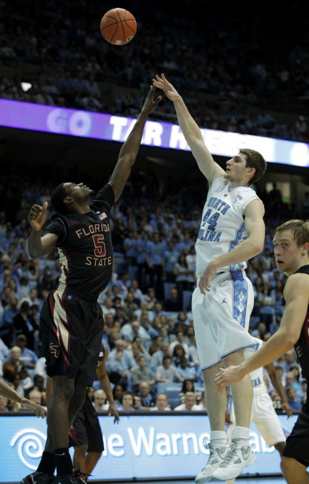 The University of North Carolina Tar Heels played the Florida State Seminoles on Sunday, February 6, 2011.