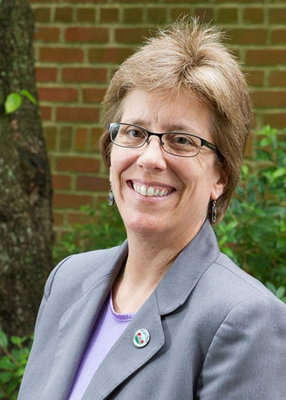 Carrboro mayor Lydia Lavelle gets the ball rolling on her election campaign