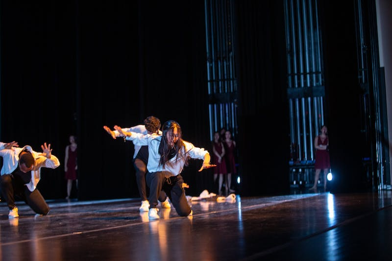 """Project Won presents their performance """"Re-presentation of Perception"""" as members of Duke Chinese Dance at Journey Into Asia at Memorial Hall on Saturday, Feb. 29, 2020. Project Won hopes to """"challenge mainstream media's representation of South Korea"""" through urban dance."""