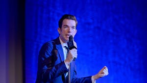 """John Mulaney performs onstage at NRDC's """"Night of Comedy"""" Benefit, in partnership with Discovery, Inc. hosted by Seth Meyers, on April 30, 2019, in New York City. Photo Courtesy of Getty Images."""