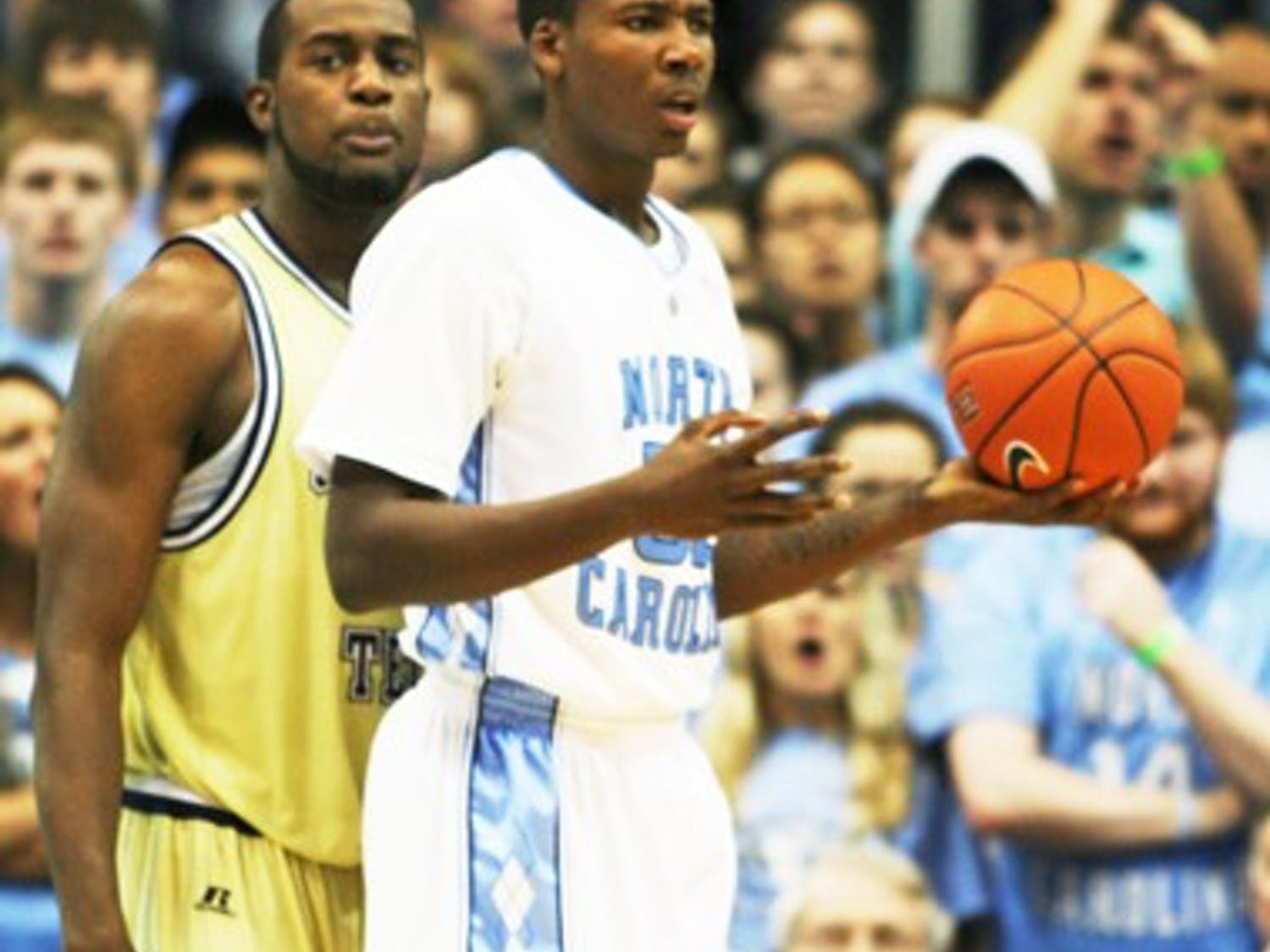 Ed Davis sustained an ankle injury in North Carolina's 73-71 loss to Georgia Tech.