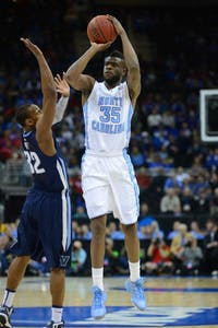 Reggie Bullock (35) takes a 3-point shot against Villanova on March 22, 2013. The Tar Heels won 78-71 in the second round of the NCAA Tournament.